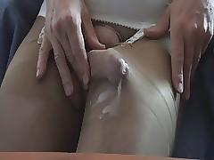 pantyhose with cum