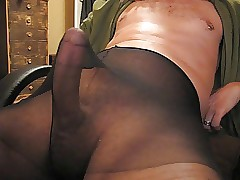 cock in pantyhose movies